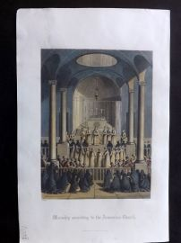 After Picart 1860 HCol Print. Worship according to the Armenian Church. Armenia
